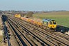13 December 2014 :: 66952 is passing Cholsey working 6X55 from Westbury to Kennet Bridge Jn