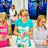 JOED VIERA/STAFF PHOTOGRAPHER-Pendleton, NY- Jaida Curtin 11, Hope Pasnik 11 and Hannah Pasnik 9 make arts and crafts at Starpoint High School. Tuesday, December 16, 2014