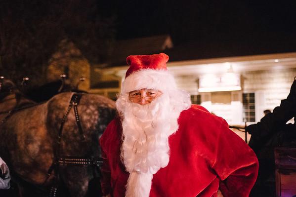 JOED VIERA/STAFF PHOTOGRAPHER-Newfane, NY-Santa Claus takes part in Newfane's Christmas Parade. Friday, December 5, 2014.
