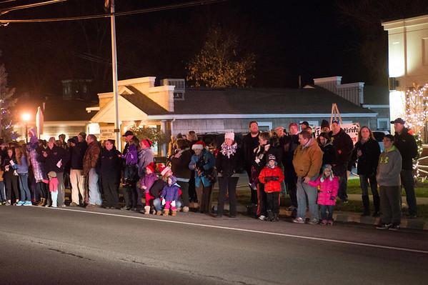 JOED VIERA/STAFF PHOTOGRAPHER-Newfane, NY- The crowd watches Newfane's Christmas Parade. Friday, December 5, 2014.
