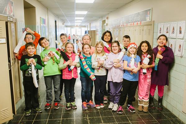 JOED VIERA/STAFF PHOTOGRAPHER-Lockport, NY- Charles Upson Elemantary teacher Ericka Milczarski's 3rd grade class.Thursday, December 11, 2014
