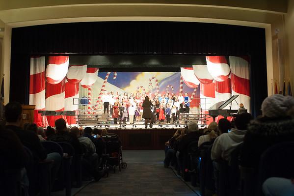 JOED VIERA/STAFF PHOTOGRAPHER-Lockport, NY- The Roy B. Kelly 4th grade chorus sings at Lockport High School. Thursday, December 11, 2014