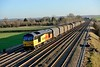 13 December 2014 :: 60021 is seen at Cholsey working 6V62, empty steel from Tilbury to Llanwern
