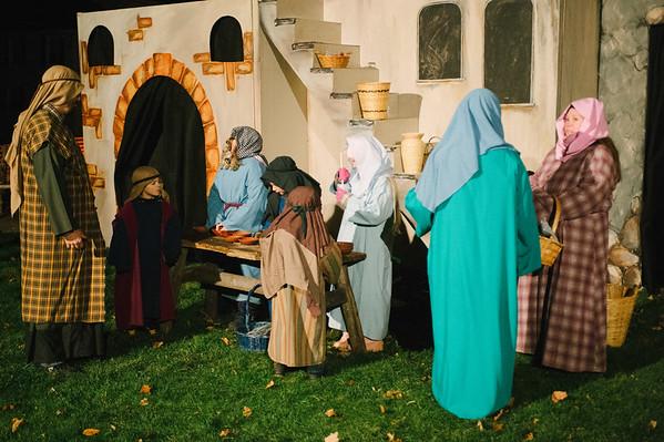 JOED VIERA/STAFF PHOTOGRAPHER-Newfane, NY- Actors take part in Grace Bible Church's living nativity scene. Friday, December 5, 2014.