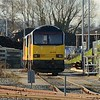 27 December 2014 :: Pictured while stabled at Westbury are Colas Rail Freight class 60 locomotives 60076 along with 60085