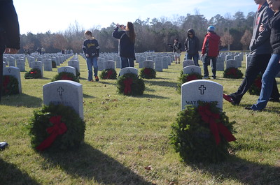 Wreath Laying at the Veteran's Cemetary