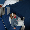 "Mara's bunk and ""cave"" in our Coast Starlight bedroom"