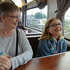 Playing UNO in the Coast Starlight Parlor Car