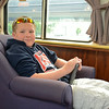Nathan, age 12, in the Parlor Car, Coast Starlight.
