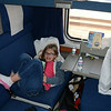 Mara's bunk and corner in the bedroom car, Coast Starlight