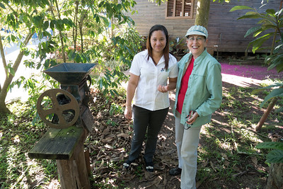 Our guide, Sarina, at the Ramirez Coffee factory