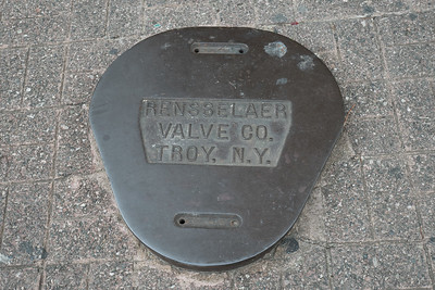 We found these iron covers on sidewalks and streets all around the old city of Santo Domingo. Happy to learn of the success of the Rensselaer Valve Co. of Troy, NY!