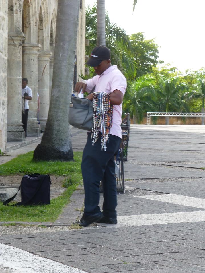 Typical jewelry street vendor, Plaza de España