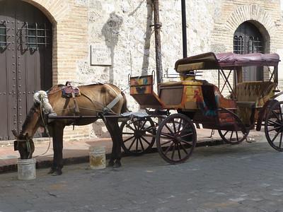 Calesa on Calle de las Damas, the oldest European street in the New World.