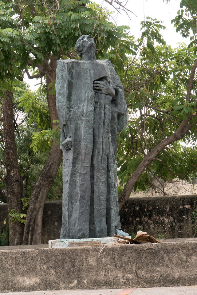 Statue honoring Bartolome de Las Casas, a tireless advocate for the indigenous people of the island (and the rest of the Americas).