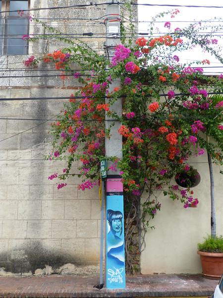 Utility pole art