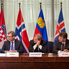 EEA enlargement signing, 11 April 2014:  Joško Klisović, Deputy Minister of Foreign and European Affairs of Croatia, Atle Leikvoll, Ambassador, Mission of Norway to the EU, Kurt Jäger, Ambassador, Mission of Liechtenstein to the EU, and Thorir Ibsen, Ambassador, Icelandic Mission to the EU, Théodoros N. Sotiropoulos, Ambassador, Permanent Representation of Greece to the EU