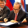 EEA enlargement signing, 11 April 2014: Théodoros N. Sotiropoulos, Ambassador, Permanent Representation of Greece to the EU