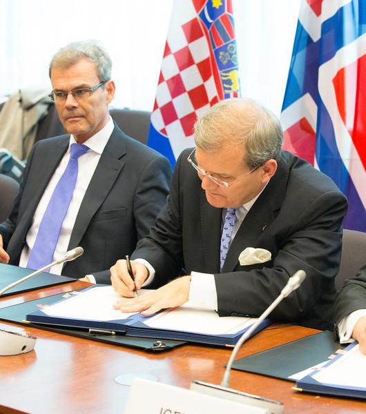 EEA enlargement signing, 11 April 2014: Kurt Jäger, Ambassador, Mission of Liechtenstein to the EU