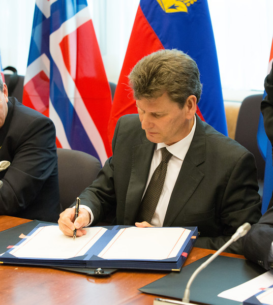 EEA enlargement signing on 11 April 2014 : Thorir Ibsen, Ambassador, Mission of Iceland to the EU