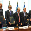 EEA enlargement signing, 11 April 2014:Joško Klisović, Deputy Minister of Foreign and European Affairs of Croatia, Atle Leikvoll, Ambassador, Mission of Norway to the EU, Théodoros N. Sotiropoulos, Ambassador, Permanent Representation of Greece to the EU, Kurt Jäger, Ambassador, Mission of Liechtenstein to the EU, and Thorir Ibsen, Ambassador, Icelandic Mission to the EU