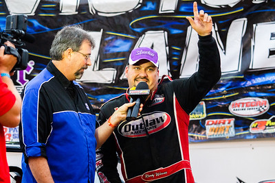 Randy Weaver (R) being interviewed by Rick Eshelman (L)