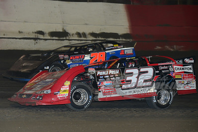 32 Bobby Pierce and 28 Dennis Erb, Jr.