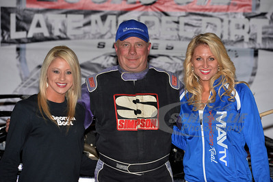 Davey Johnson in Victory Lane with Zade Scarboro for Georgia Boot and Sacha Sturgill for MavTV