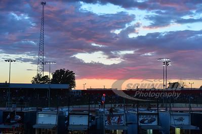Sunset over Eldora Speedway