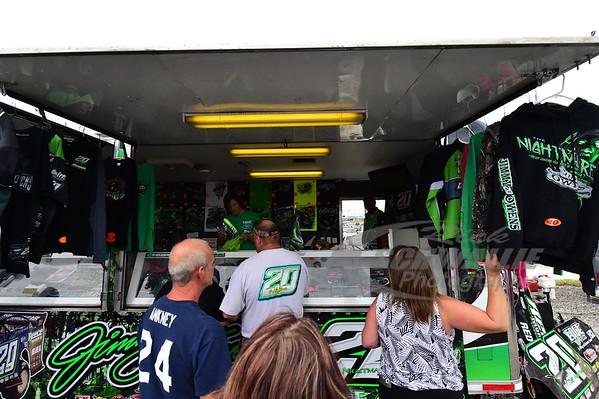 Fans at the Jimmy Owens souvenir trailer