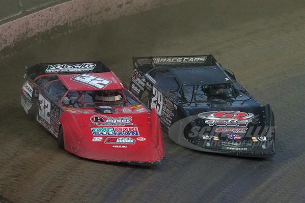 32 Bobby Pierce and 29 Darrell Lanigan