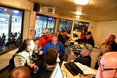 Scott Bloomquist in the Media Room after his win
