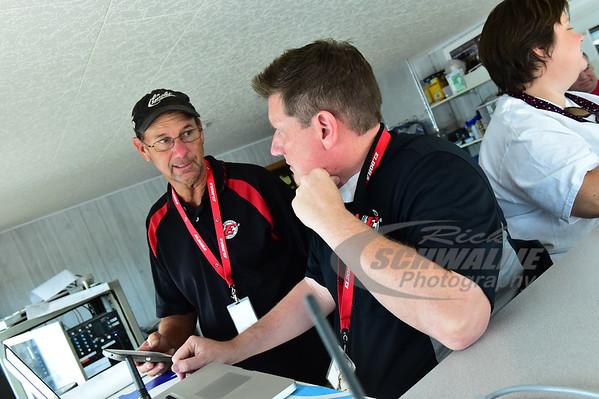 Eldora Speedway General Manager - Roger Slack and Race Director - Larry Boos