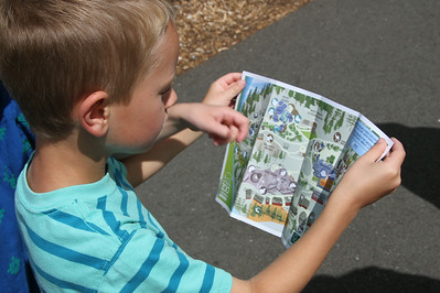 Max and Connor were really into the zoo map
