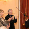 9558 Jillian Manus, Michael Tilson Thomas applaud Cellist Alisa Weilerstein