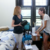 Mom Pat helps her daughter, Alexa Chabora '18, unpack.<br /> Photo Credit: Paola Nogueras
