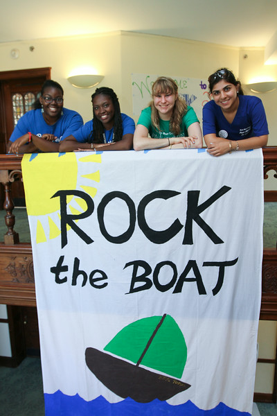 Rock Hall Advisors: Sedi Agawu '17, Faith Daniel '17, Michaela Olson '15, and Miriam Ahmed '15.<br /> Photo Credit: Paola Nogueras