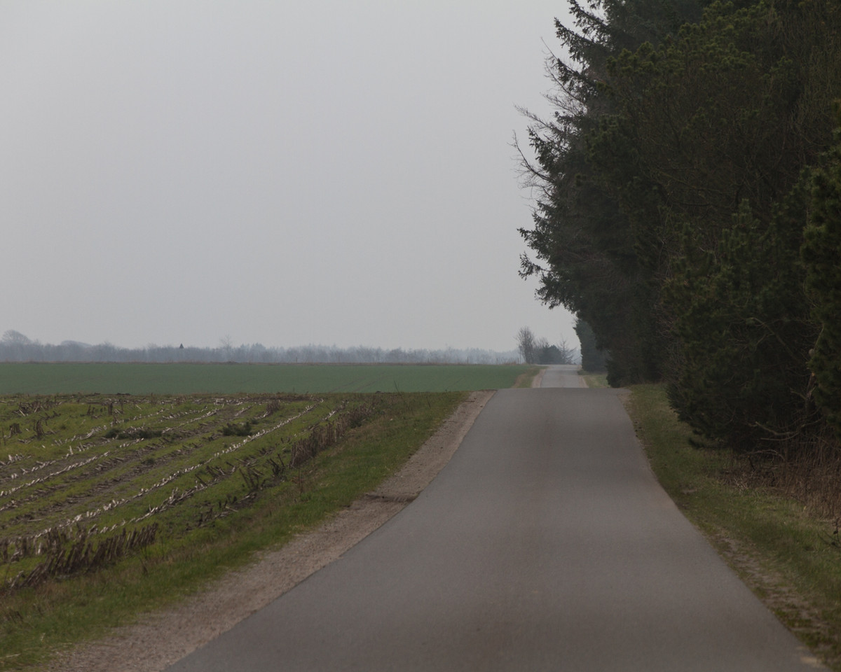 the road between Fousing K and Asp