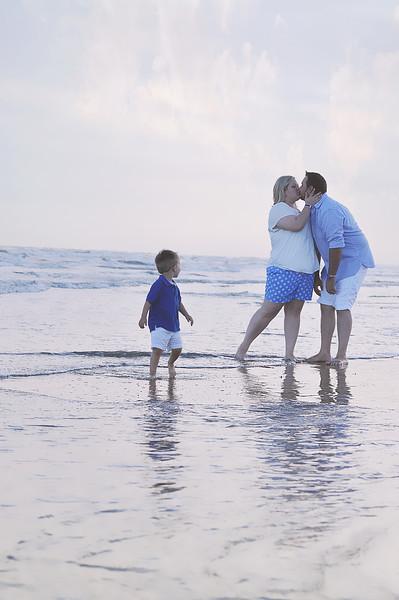 Vacation Beach Family Session on  Galveston, Island