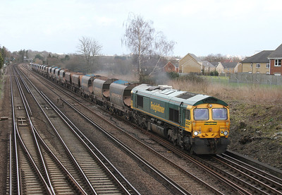 66615 Worting Junction 27/02/14 6O49 Neasden to Wool
