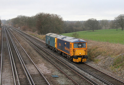 73213 Potbridge 10/02/14 0Y62 Eastleigh to Tonbridge with 73119