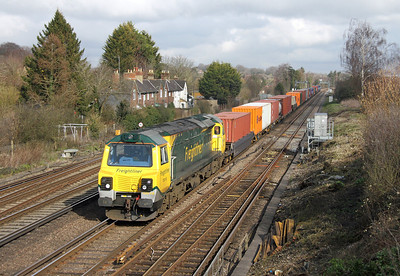 70018 Worting Junction 28/02/14 4O51 Wentloog to Southampton