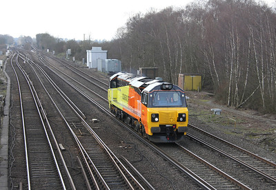 70801 Worting Junction 28/02/14 0Z70 Eastleigh to Eastleigh via Woking