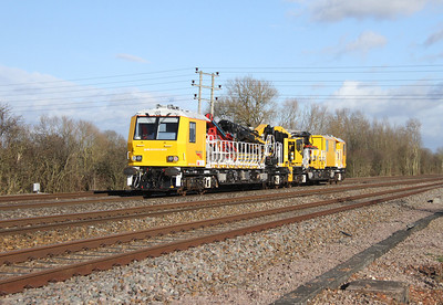 99 70 9131 005 9 Electrification Train Grove Wick Crossing 15/02/14 Swindon to Didcot route learner