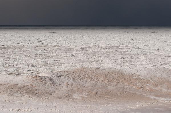 140226 Polar JOED VIERA/STAFF PHOTOGRAPHER-Olcott, NY- The water from Lake Ontario lays frozen on Olcott Beach day's before Sunday's 2014 Polar Bear Swim on Wednesday February 26th, 2014.