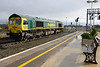 18 February 2014 :: The signal has just turned green for 66599 to leave the yard at Didcot working 0O26 to Eastleigh