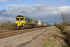 18 February 2014 :: At Grove Wick Crossing is 66523 working from Neasden to Pengam