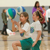 140225 STARPOINT OLYMPICS JOED VIERA/STAFF PHOTOGRAPHER-Pendleton, NY- Starpoint 3rd graders Anna Solar(8) and Lauren Amacher(8) show off thier basketball skills during the Starpoint staff olympics  on Tuesday February 25th, 2014.