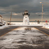 140103 3a Ent JOED VIERA/STAFF PHOTOGRAPHER Olcott,NY-Snow lines the street in front of Olcott Beach's Lighthouse Friday Jan 2nd, 2013..