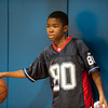 140226 Salvation scoreboard JOED VIERA/STAFF PHOTOGRAPHER-Lockport, NY- Antwoine kush(11) plays basketball at the Salvation army on Wednesday February 12th, 2014.